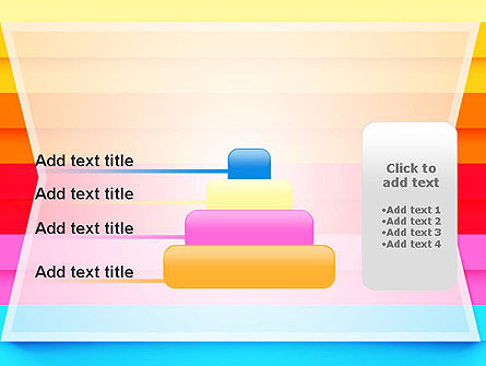 Colored Horizontal Lines PowerPoint Template Slide 8