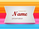 Abstract/Textures: Modelo do PowerPoint - linhas horizontais coloridas #11570