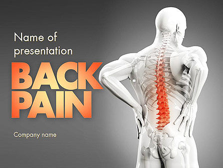 Medical: Back Pain PowerPoint Template #11571