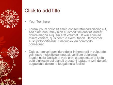 Winter Snowflakes Background PowerPoint Template, Slide 3, 11573, Abstract/Textures — PoweredTemplate.com