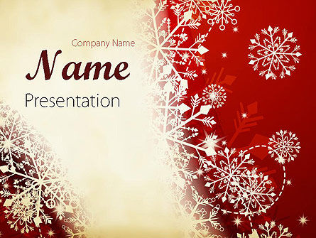 Winter Snowflakes Background Powerpoint Template, Backgrounds