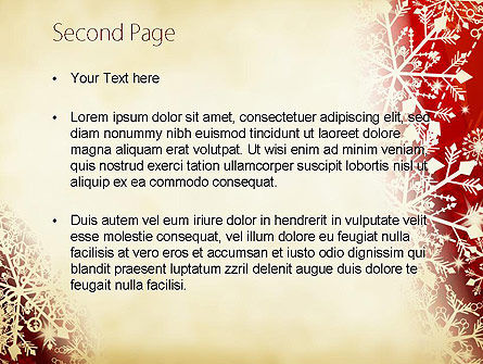 Winter Snowflakes Background PowerPoint Template Slide 2