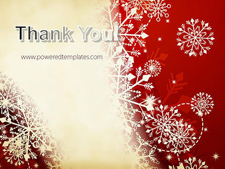 Winter Snowflakes Background PowerPoint Template Slide 20