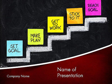 Goal Setting PowerPoint Template, 11575, Education & Training — PoweredTemplate.com