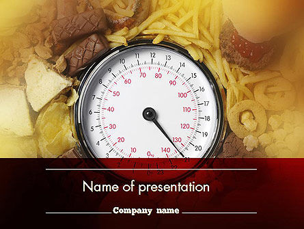 Medical: Junk Food PowerPoint Template #11577