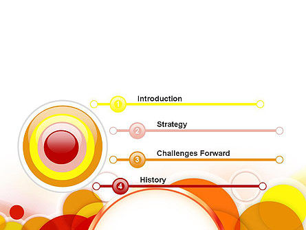 Bright Circles PowerPoint Template Slide 3