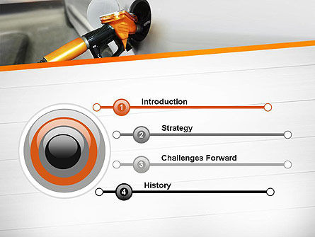 Car Being Filled With Gas PowerPoint Template, Slide 3, 11579, Cars and Transportation — PoweredTemplate.com