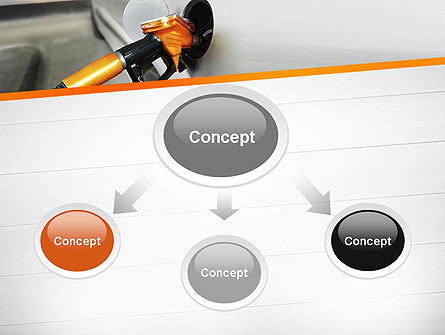 Car Being Filled With Gas PowerPoint Template, Slide 4, 11579, Cars and Transportation — PoweredTemplate.com