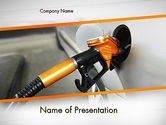 Cars and Transportation: Car Being Filled With Gas PowerPoint Template #11579