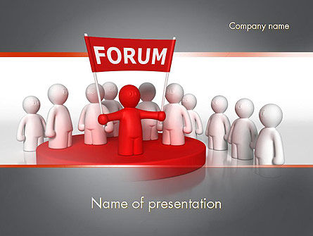 Forum PowerPoint Template, 11580, Careers/Industry — PoweredTemplate.com