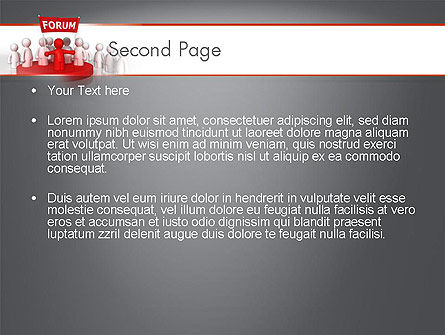 Forum PowerPoint Template Slide 2