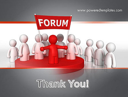 Forum PowerPoint Template Slide 20