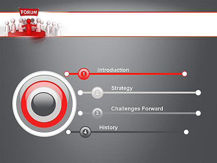 Forum PowerPoint Template, Slide 3, 11580, Careers/Industry — PoweredTemplate.com