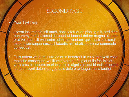 Beautiful Pattern PowerPoint Template Slide 2