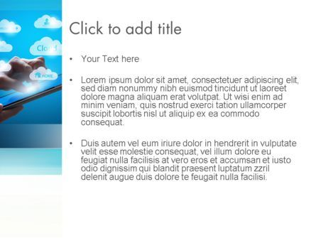 Cloud Applications PowerPoint Template, Slide 3, 11583, Technology and Science — PoweredTemplate.com