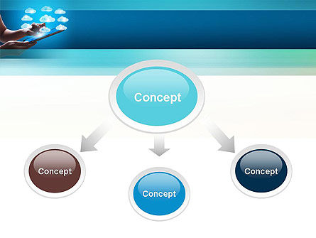 Cloud Applications PowerPoint Template, Slide 4, 11583, Technology and Science — PoweredTemplate.com