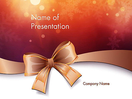 Holiday/Special Occasion: Christmas Bow-knot PowerPoint Template #11584
