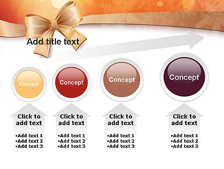 Christmas Bow-knot PowerPoint Template Slide 13