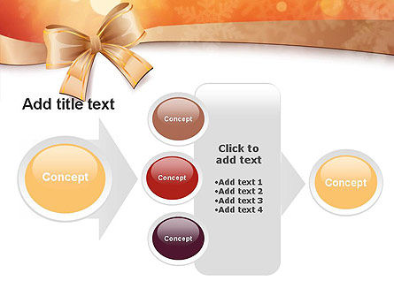 Christmas Bow-knot PowerPoint Template Slide 17