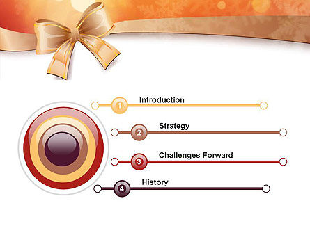 Christmas Bow-knot PowerPoint Template Slide 3