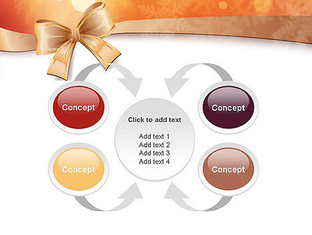 Christmas Bow-knot PowerPoint Template Slide 6