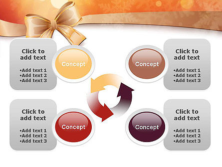 Christmas Bow-knot PowerPoint Template Slide 9