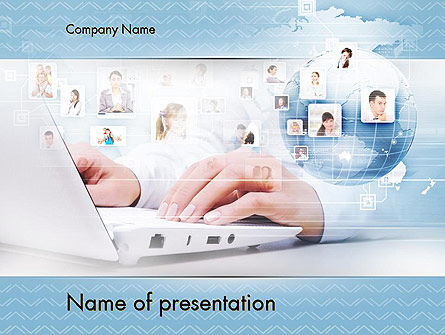 Socioeconomic Business Activity PowerPoint Template, 11589, Business Concepts — PoweredTemplate.com