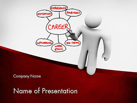 Careers/Industry: Building Blocks to Successful Career PowerPoint Template #11590