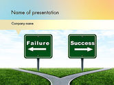 Business Concepts: Two Options PowerPoint Template #11591