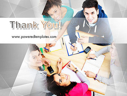 Students at Work PowerPoint Template Slide 20