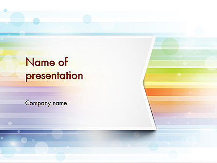 Soft Color Horizontal Lines PowerPoint Template