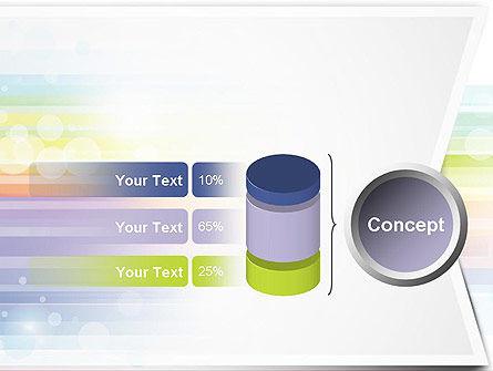 Soft Color Horizontal Lines PowerPoint Template Slide 11