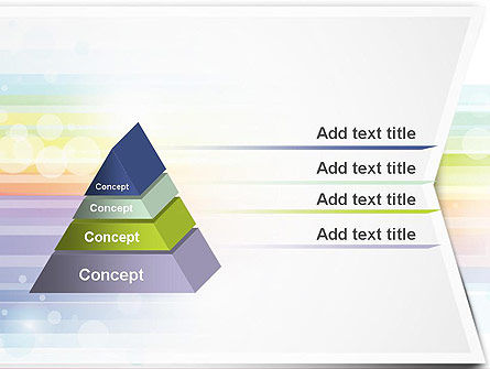 Soft Color Horizontal Lines PowerPoint Template Slide 12