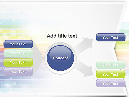 Soft Color Horizontal Lines PowerPoint Template Slide 14