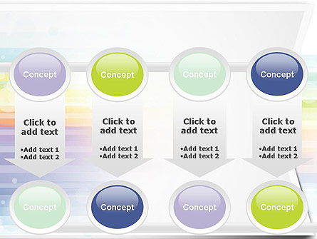 Soft Color Horizontal Lines PowerPoint Template Slide 18