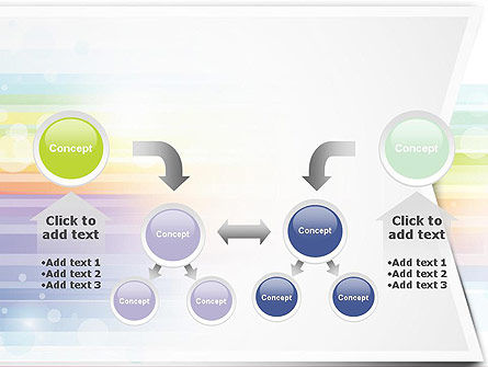 Soft Color Horizontal Lines PowerPoint Template Slide 19