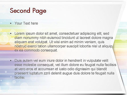 Soft Color Horizontal Lines PowerPoint Template Slide 2