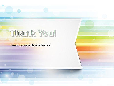 Soft Color Horizontal Lines PowerPoint Template Slide 20