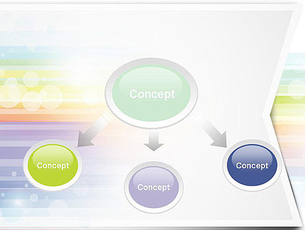 Soft Color Horizontal Lines PowerPoint Template Slide 4