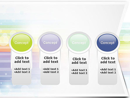 Soft Color Horizontal Lines PowerPoint Template Slide 5