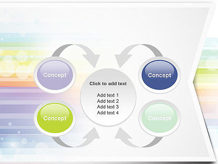 Soft Color Horizontal Lines PowerPoint Template Slide 6