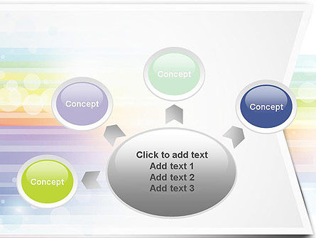 Soft Color Horizontal Lines PowerPoint Template Slide 7
