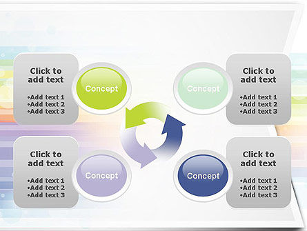 Soft Color Horizontal Lines PowerPoint Template Slide 9