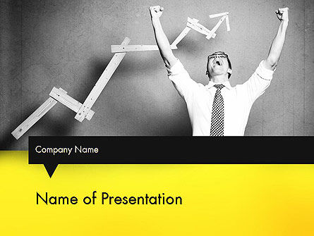Winning Businessman PowerPoint Template, 11594, Business Concepts — PoweredTemplate.com