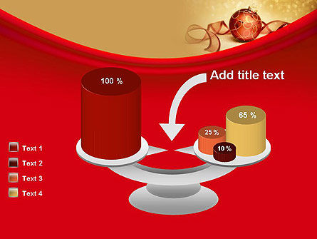 Red-gold Christmas Theme PowerPoint Template Slide 10
