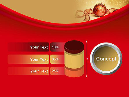 Red-gold Christmas Theme PowerPoint Template Slide 11