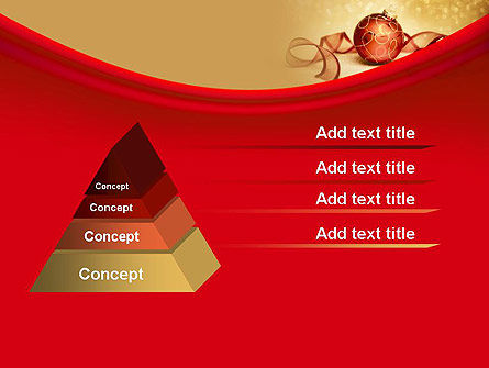 Red-gold Christmas Theme PowerPoint Template Slide 12