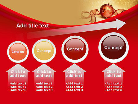 Red-gold Christmas Theme PowerPoint Template Slide 13