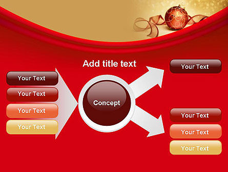 Red-gold Christmas Theme PowerPoint Template Slide 14