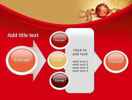 Red-gold Christmas Theme PowerPoint Template Slide 17